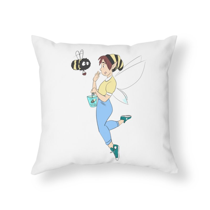 You've Got a Friend In Bee Home Throw Pillow by ArtemisStudios's Artist Shop