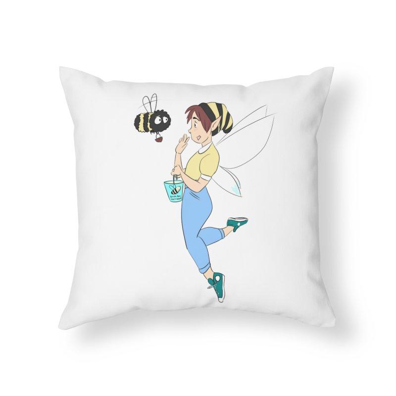 You've Got a Friend In Bee Home Throw Pillow by ArtemisStudios's Artist Shop