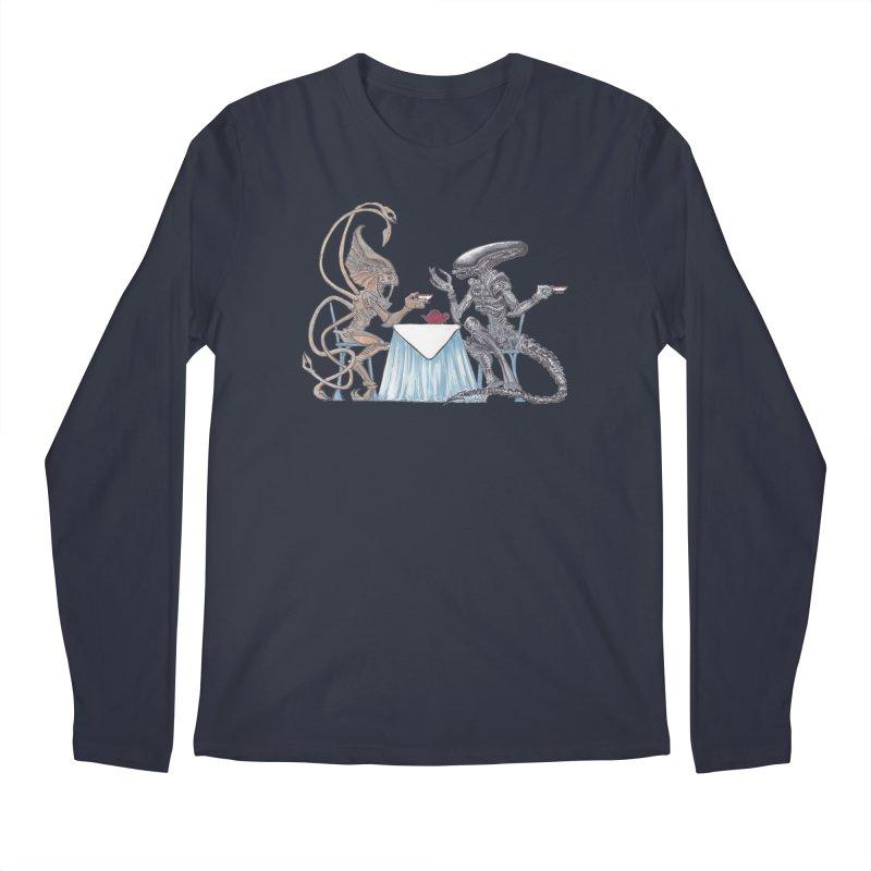 Alien Tea Time Men's Longsleeve T-Shirt by ArtemisStudios's Artist Shop