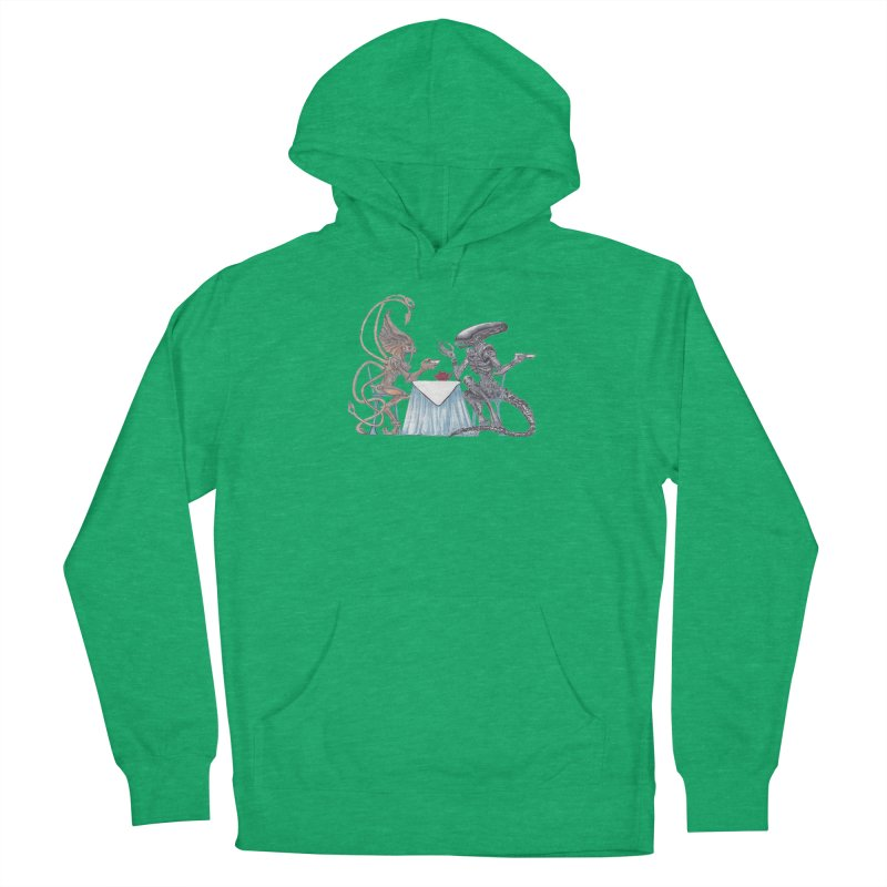 Alien Tea Time Men's Pullover Hoody by ArtemisStudios's Artist Shop