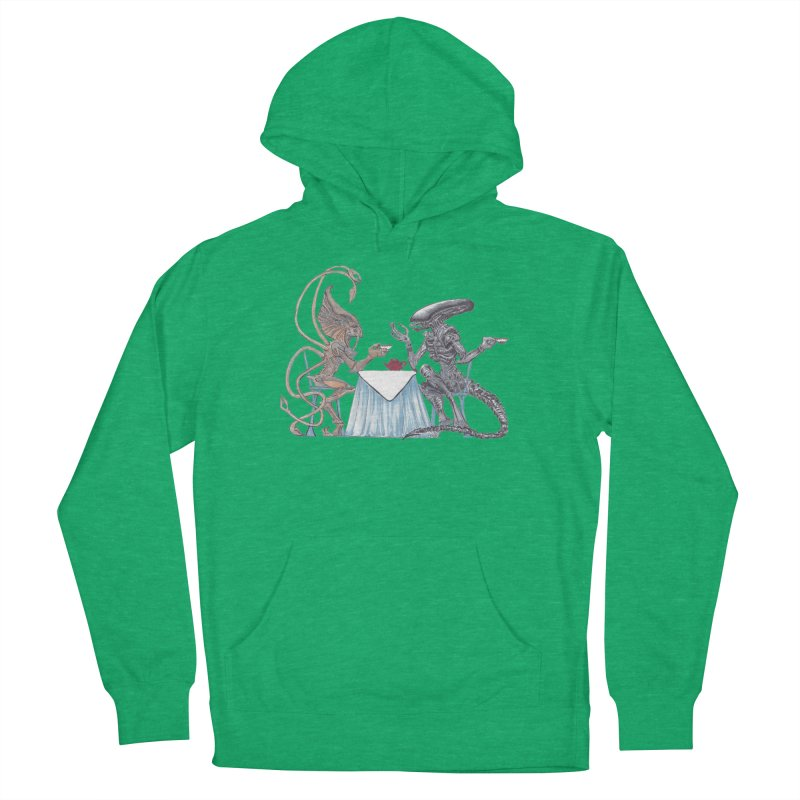 Alien Tea Time Women's French Terry Pullover Hoody by ArtemisStudios's Artist Shop
