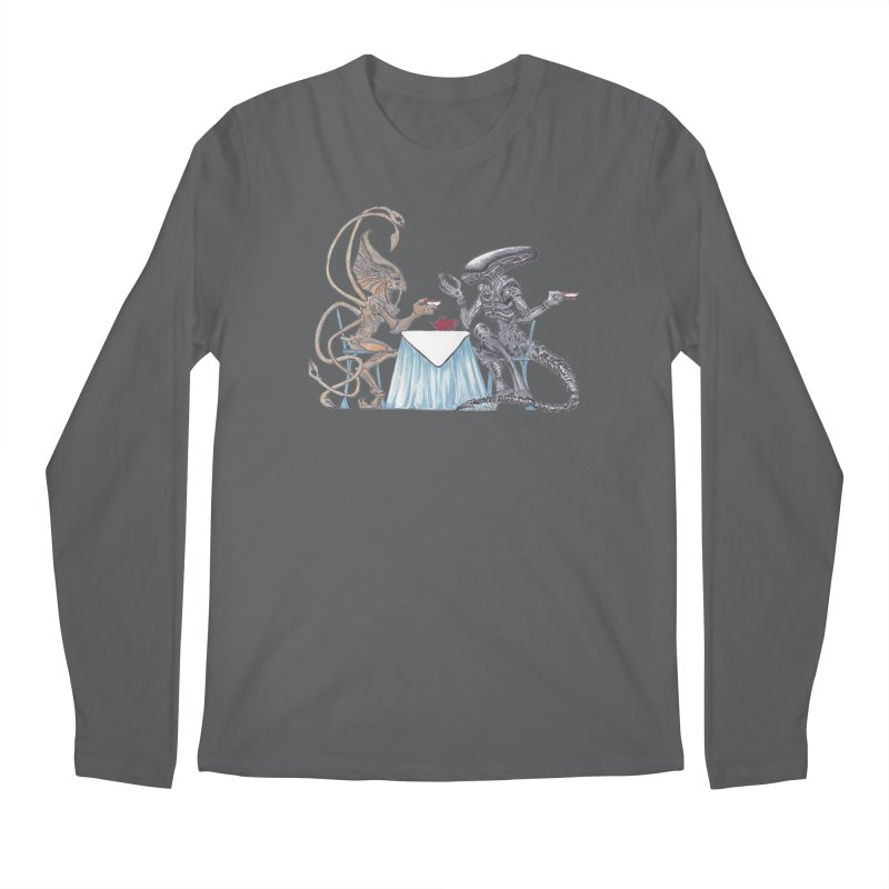Alien Tea Time Men's Longsleeve T-Shirt by ArtemisStudios's Artist Shop