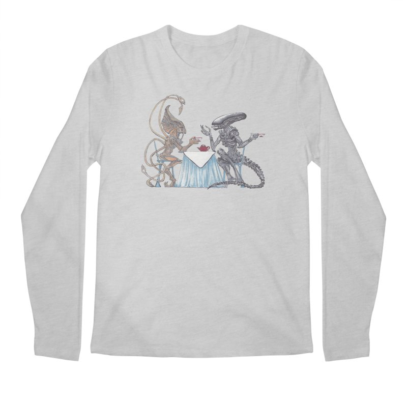 Alien Tea Time Men's Regular Longsleeve T-Shirt by ArtemisStudios's Artist Shop