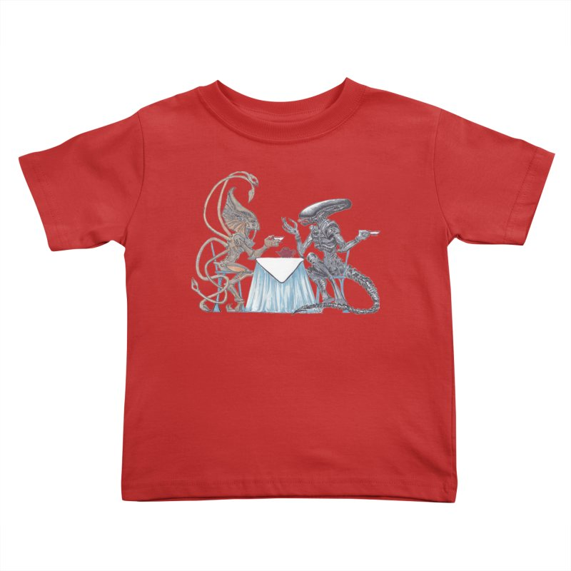 Alien Tea Time Kids Toddler T-Shirt by ArtemisStudios's Artist Shop