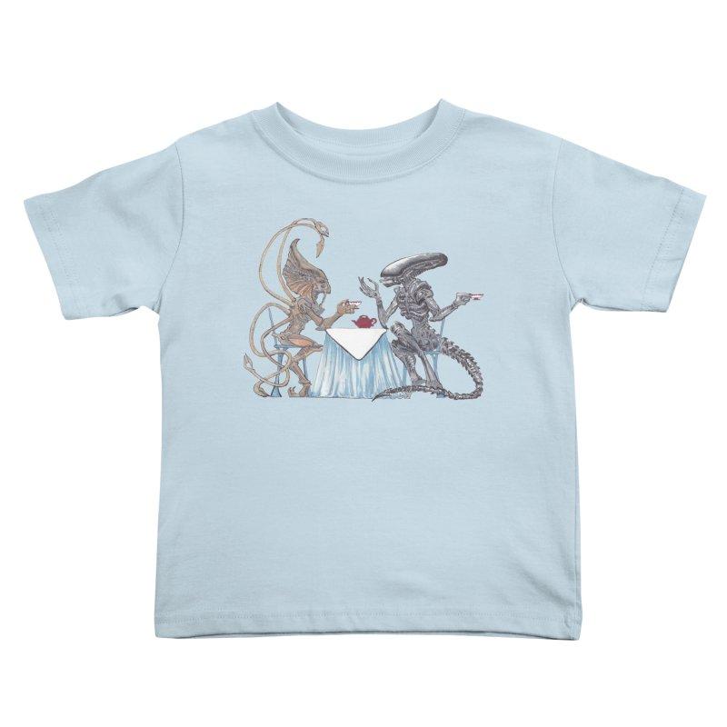 Alien Tea Time Kids Toddler T-Shirt by ArtemisStudios's Artist Shop