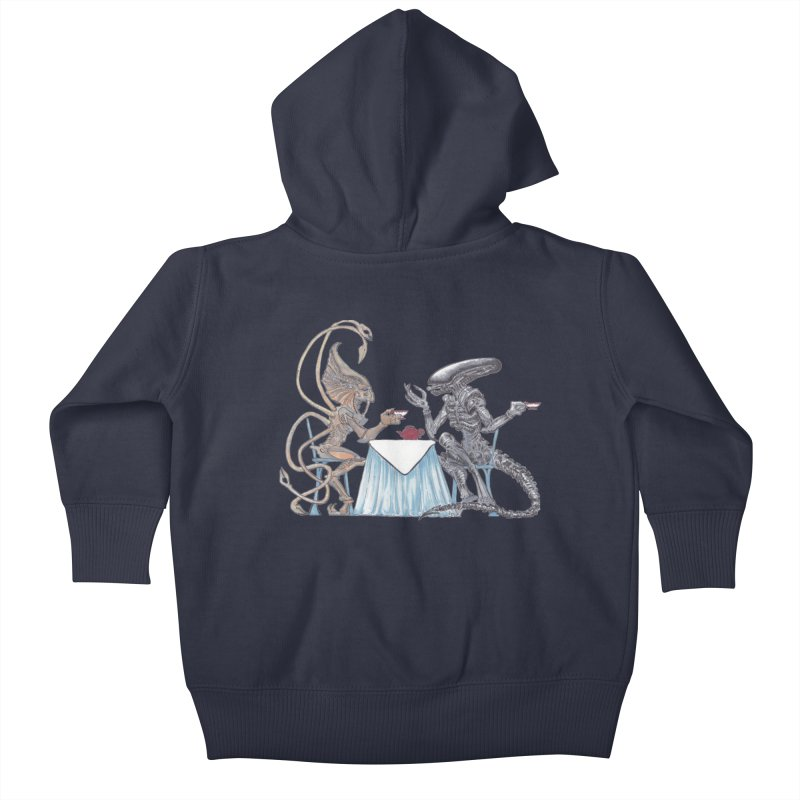 Alien Tea Time Kids Baby Zip-Up Hoody by ArtemisStudios's Artist Shop