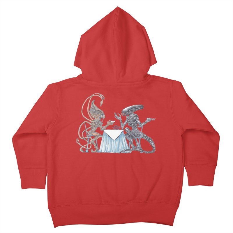 Alien Tea Time Kids Toddler Zip-Up Hoody by ArtemisStudios's Artist Shop