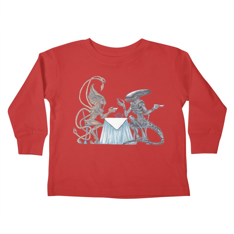 Alien Tea Time Kids Toddler Longsleeve T-Shirt by ArtemisStudios's Artist Shop