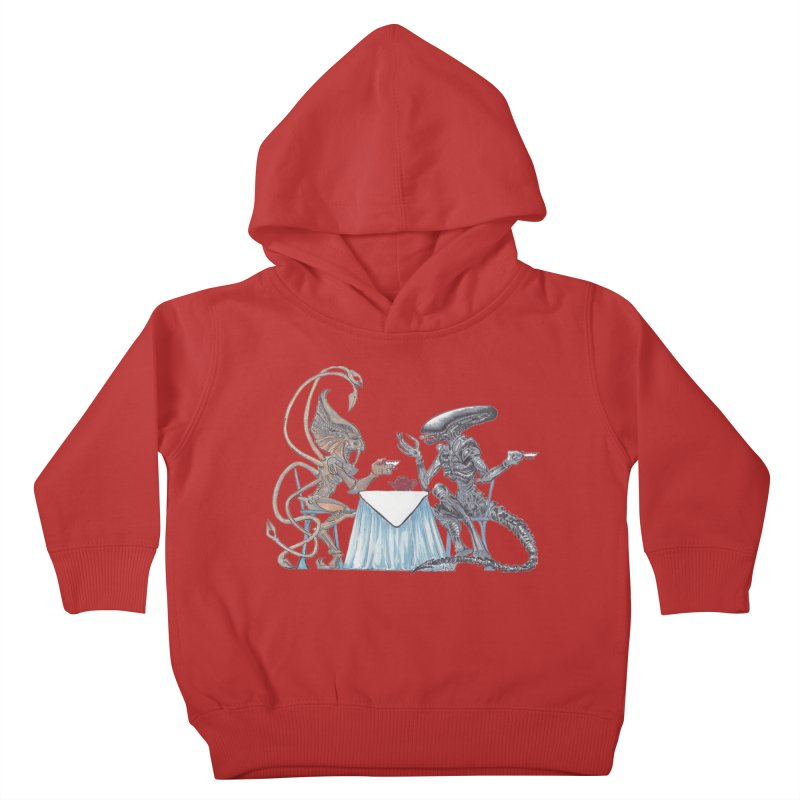 Alien Tea Time Kids Toddler Pullover Hoody by ArtemisStudios's Artist Shop