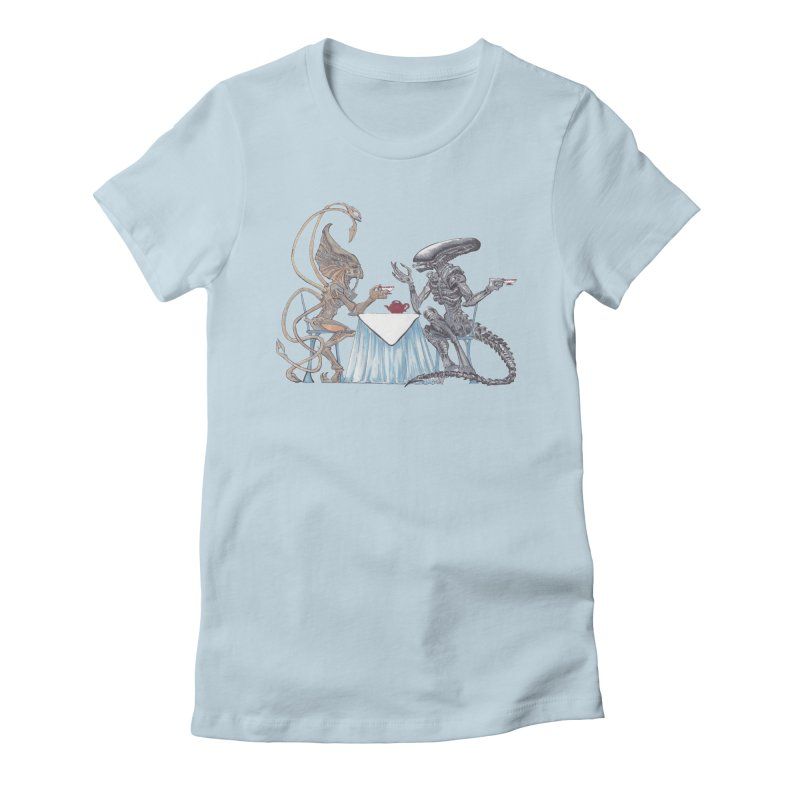 Alien Tea Time Women's Fitted T-Shirt by ArtemisStudios's Artist Shop