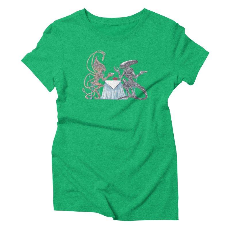 Alien Tea Time Women's Triblend T-Shirt by ArtemisStudios's Artist Shop
