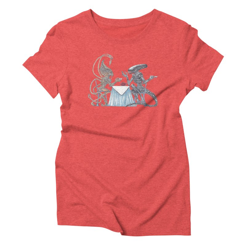 Alien Tea Time Women's Triblend T-shirt by ArtemisStudios's Artist Shop