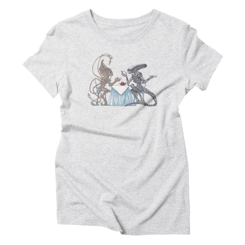 Alien Tea Time Women's T-Shirt by ArtemisStudios's Artist Shop