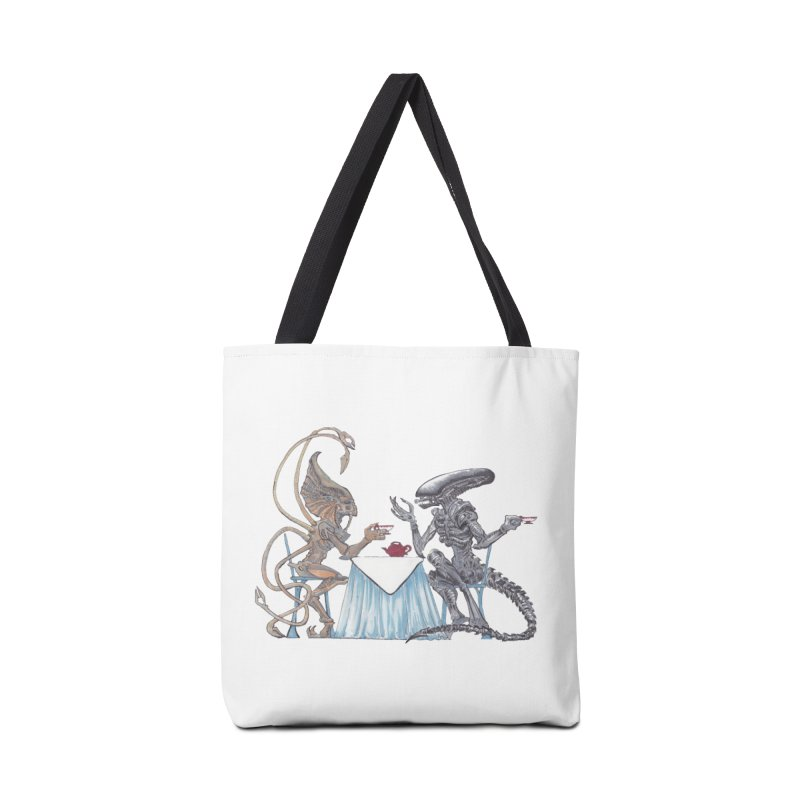Alien Tea Time Accessories Tote Bag Bag by ArtemisStudios's Artist Shop