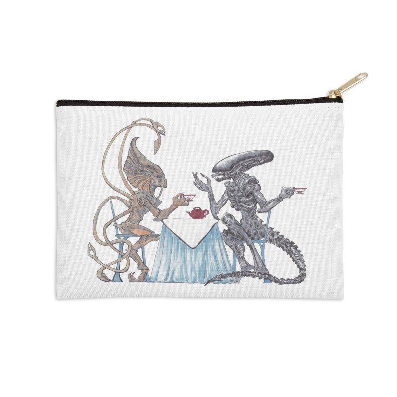 Alien Tea Time Accessories Zip Pouch by ArtemisStudios's Artist Shop