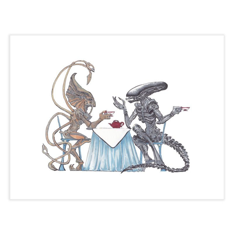 Alien Tea Time Home Fine Art Print by ArtemisStudios's Artist Shop