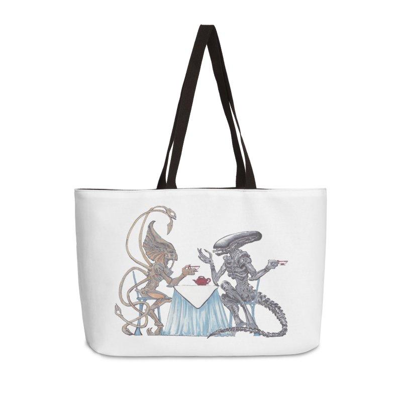 Alien Tea Time Accessories Weekender Bag Bag by ArtemisStudios's Artist Shop
