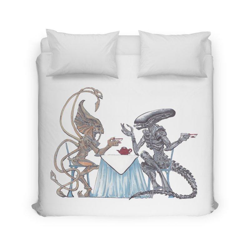 Alien Tea Time Home Duvet by ArtemisStudios's Artist Shop