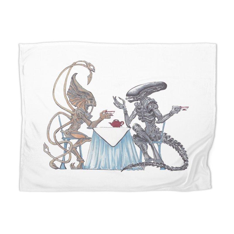 Alien Tea Time Home Blanket by ArtemisStudios's Artist Shop