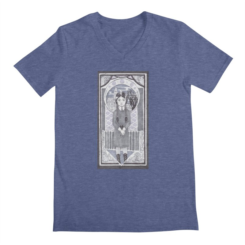 Wednesday Men's V-Neck by ArtemisStudios's Artist Shop