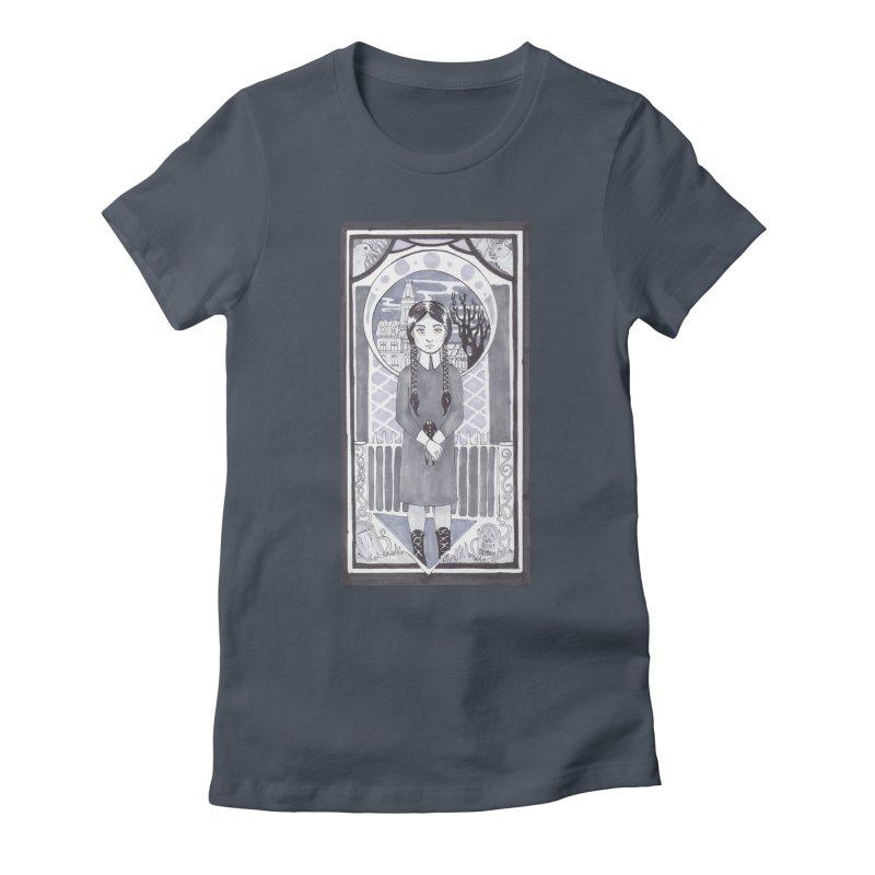 Wednesday Women's Fitted T-Shirt by ArtemisStudios's Artist Shop