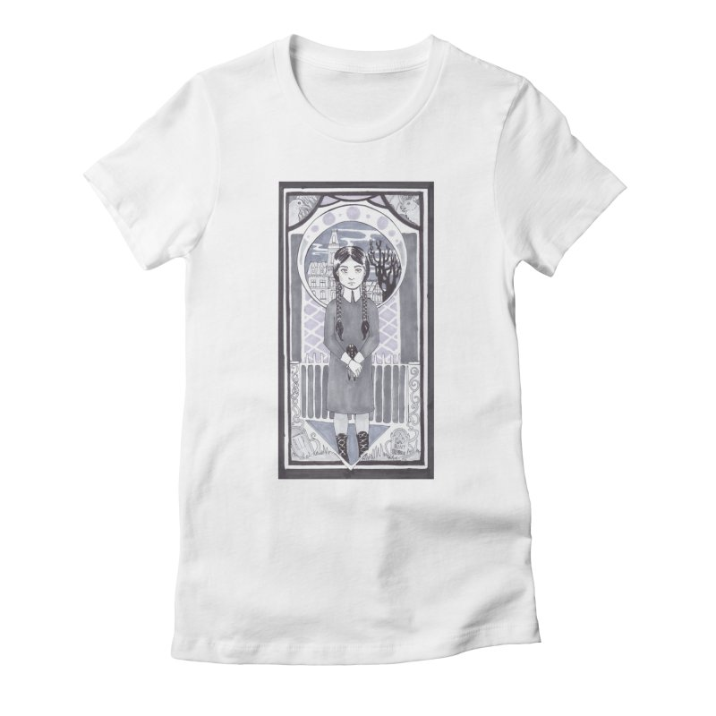 Wednesday Women's Fitted T-Shirt by ArtemisStudios's Artist Shop