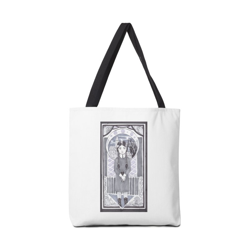 Wednesday Accessories Tote Bag Bag by ArtemisStudios's Artist Shop
