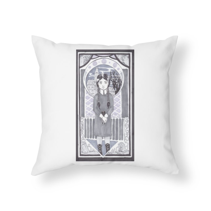 Wednesday Home Throw Pillow by ArtemisStudios's Artist Shop