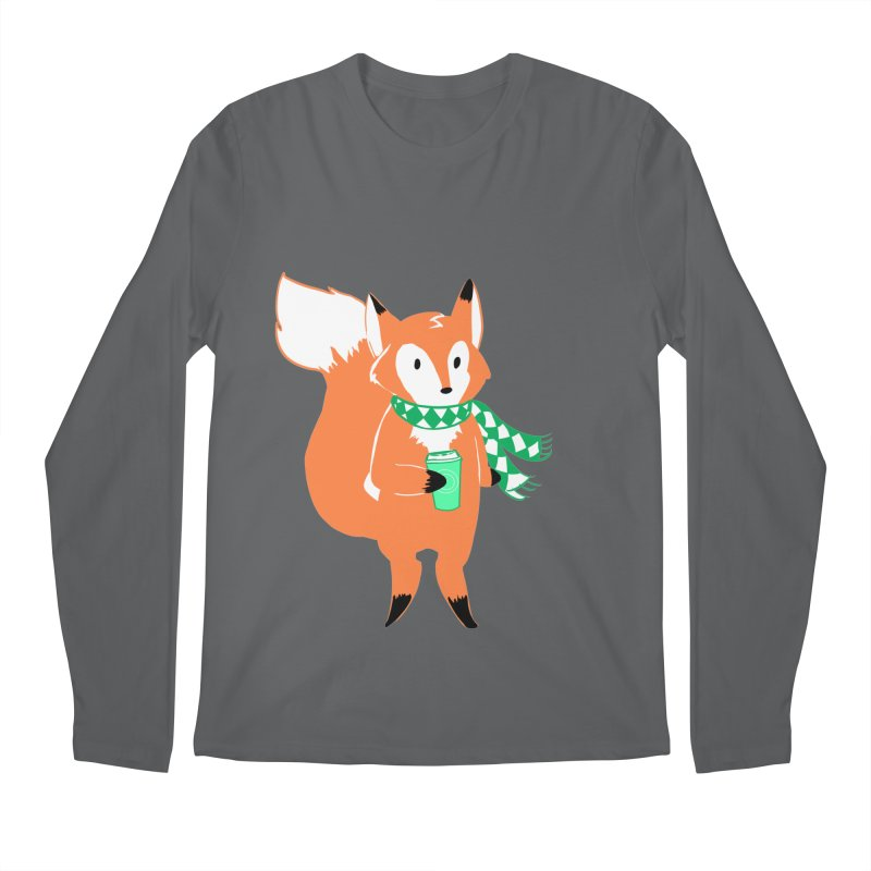 Holiday Like a Fox Men's Regular Longsleeve T-Shirt by ArtemisStudios's Artist Shop