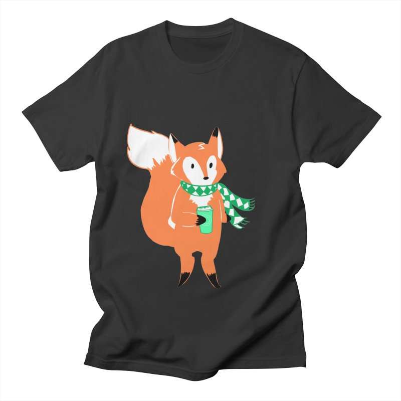 Holiday Like a Fox Men's Regular T-Shirt by ArtemisStudios's Artist Shop