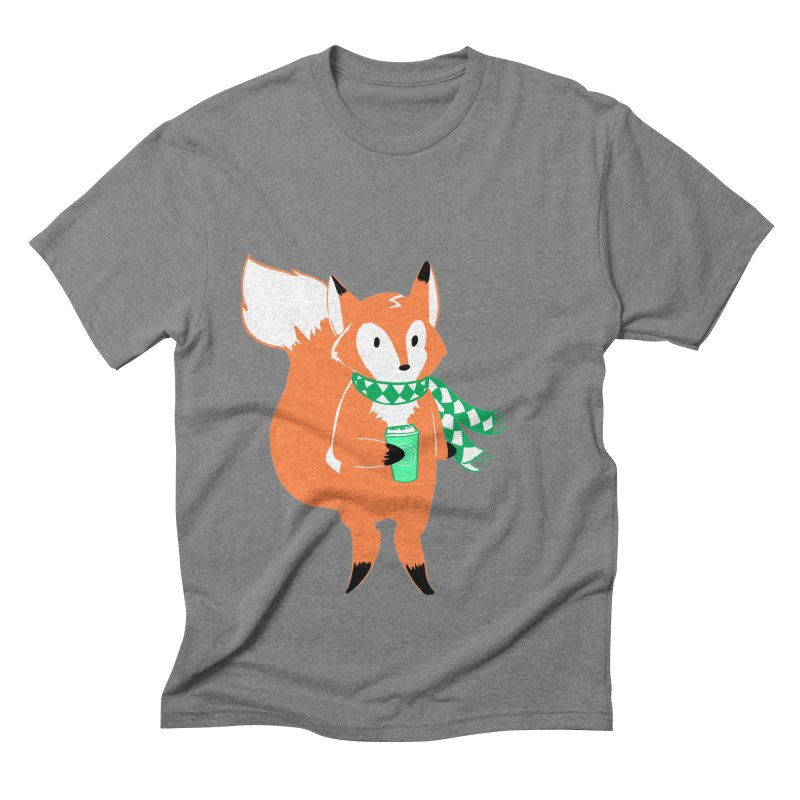 Holiday Like a Fox Men's Triblend T-Shirt by ArtemisStudios's Artist Shop