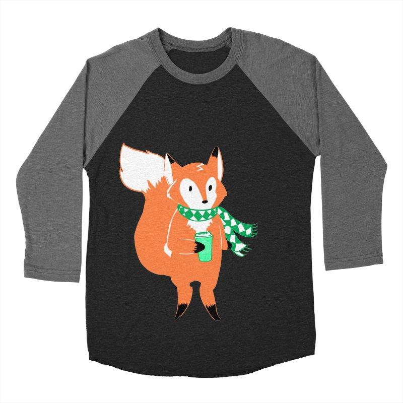 Holiday Like a Fox Men's Baseball Triblend T-Shirt by ArtemisStudios's Artist Shop