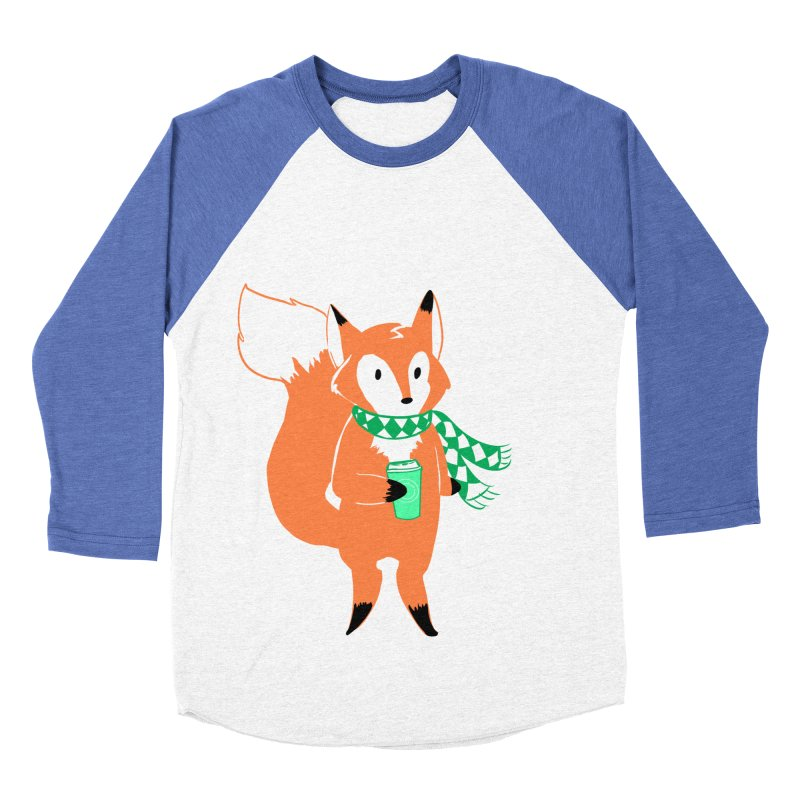 Holiday Like a Fox Men's Baseball Triblend T-Shirt by ArtemisStudios's Artist Shop