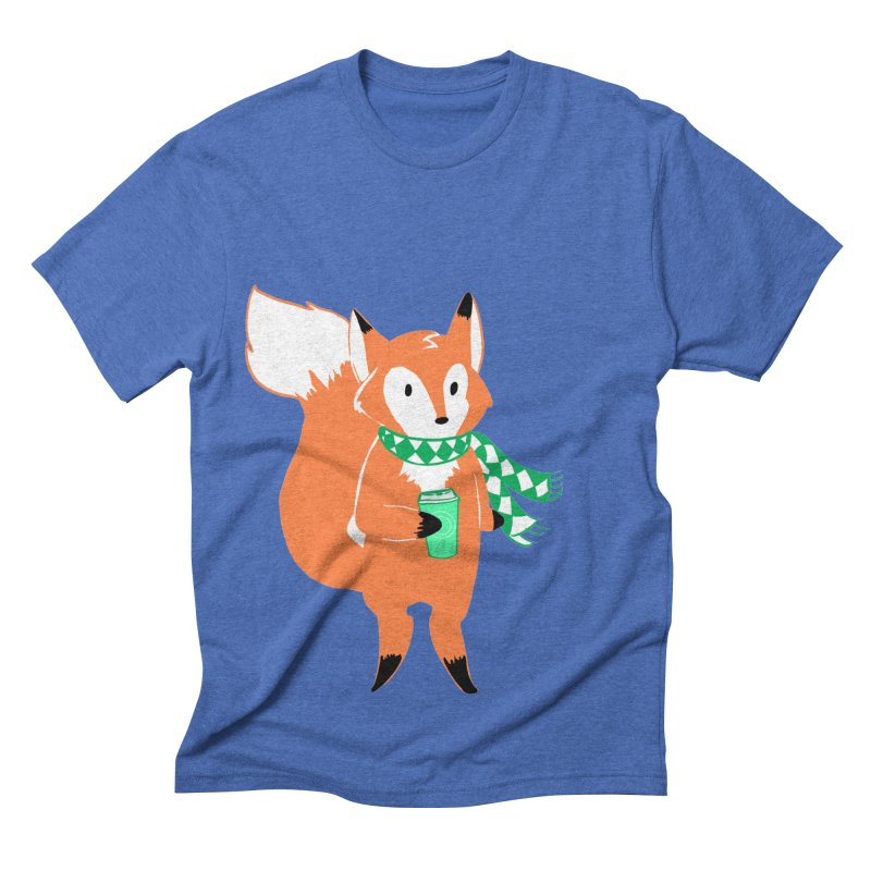 Holiday Like a Fox Men's Triblend T-shirt by ArtemisStudios's Artist Shop