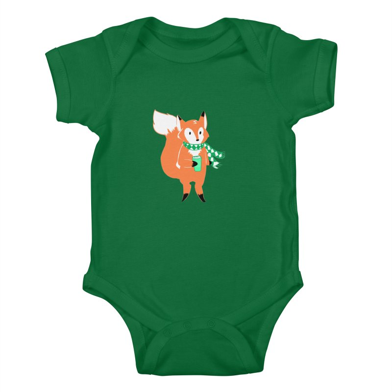 Holiday Like a Fox Kids Baby Bodysuit by ArtemisStudios's Artist Shop