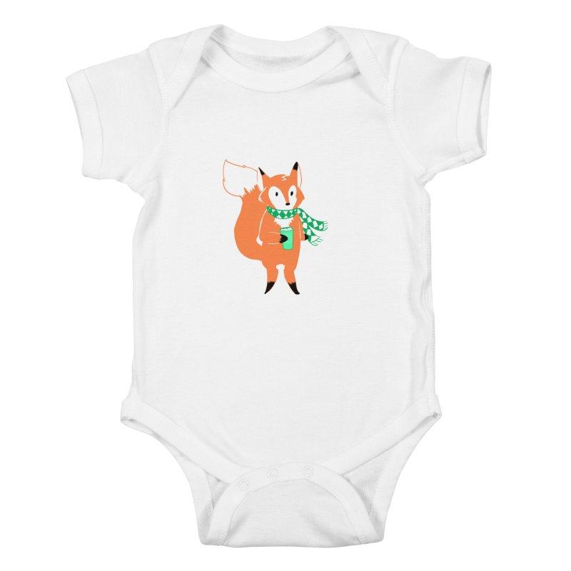 Holiday Like a Fox Kids Baby Bodysuit by ArtemisStudios's Artist Shop