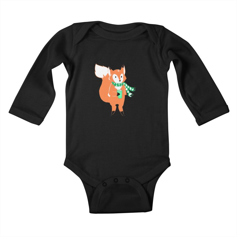 Holiday Like a Fox Kids Baby Longsleeve Bodysuit by ArtemisStudios's Artist Shop