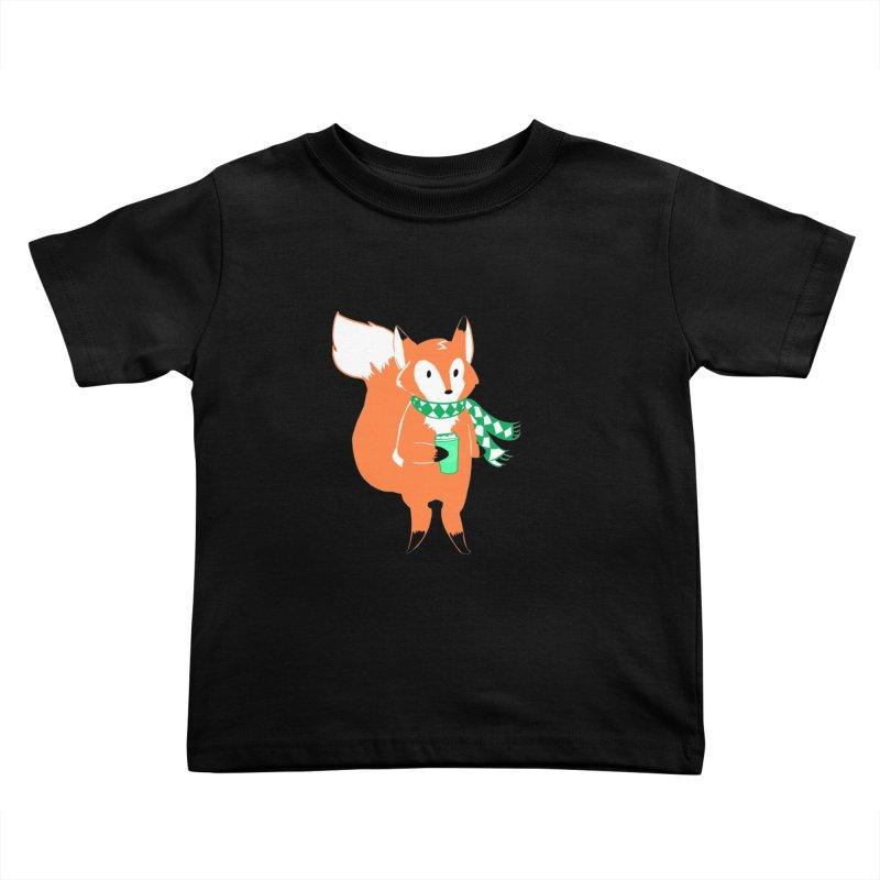 Holiday Like a Fox Kids Toddler T-Shirt by ArtemisStudios's Artist Shop