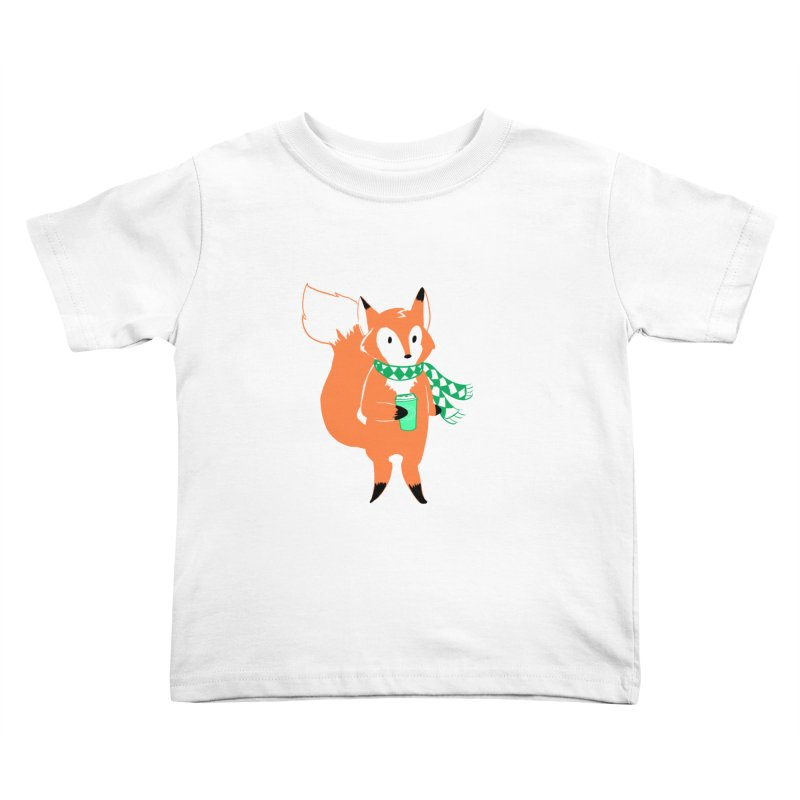 Holiday Like a Fox Kids Toddler T-Shirt by ArtemisStudios's Artist Shop