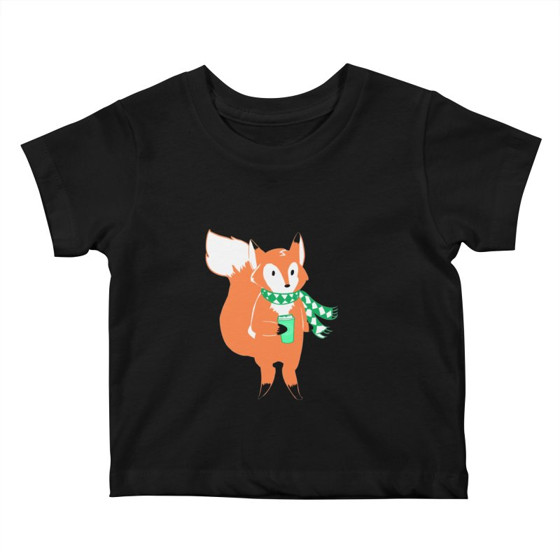 Holiday Like a Fox Kids Baby T-Shirt by ArtemisStudios's Artist Shop