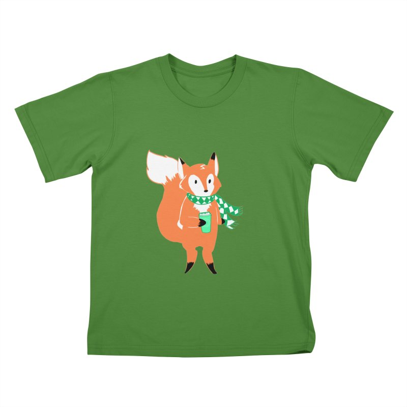 Holiday Like a Fox Kids T-shirt by ArtemisStudios's Artist Shop