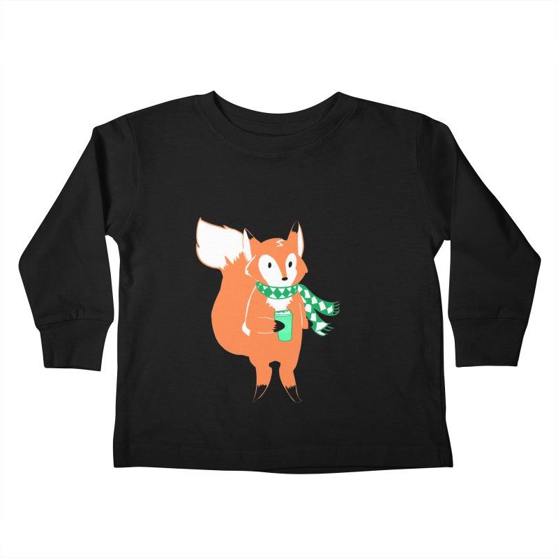 Holiday Like a Fox Kids Toddler Longsleeve T-Shirt by ArtemisStudios's Artist Shop