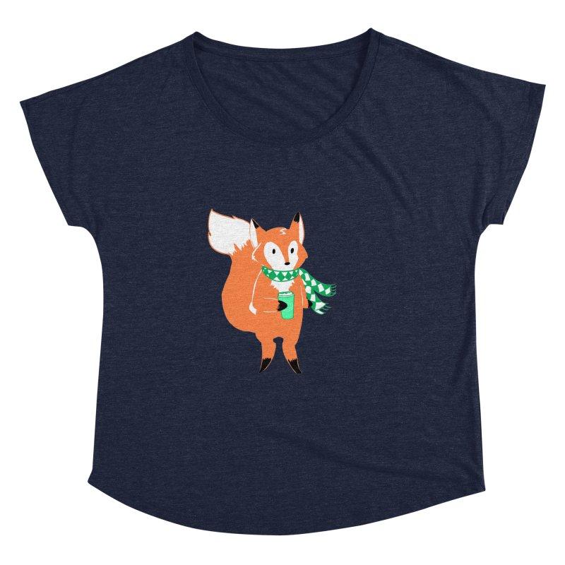 Holiday Like a Fox Women's Dolman Scoop Neck by ArtemisStudios's Artist Shop