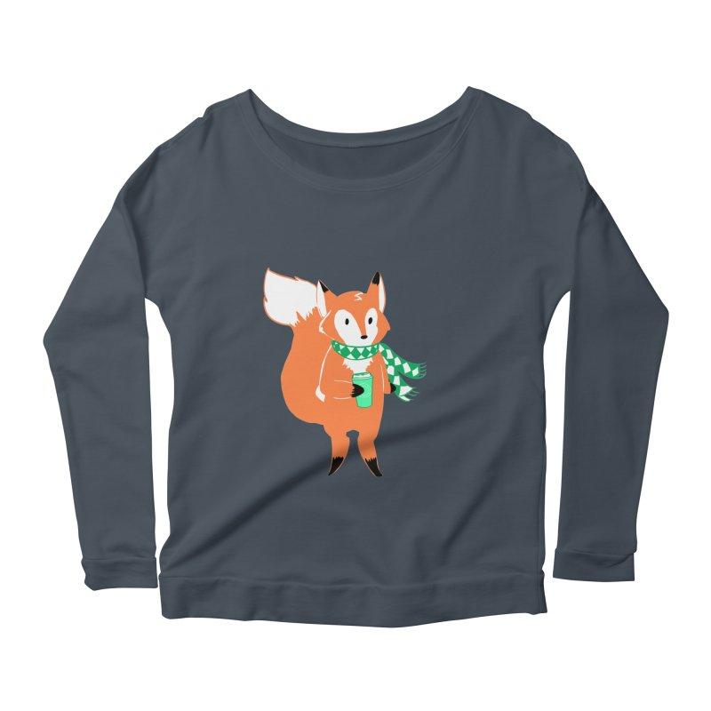 Holiday Like a Fox Women's Longsleeve Scoopneck  by ArtemisStudios's Artist Shop