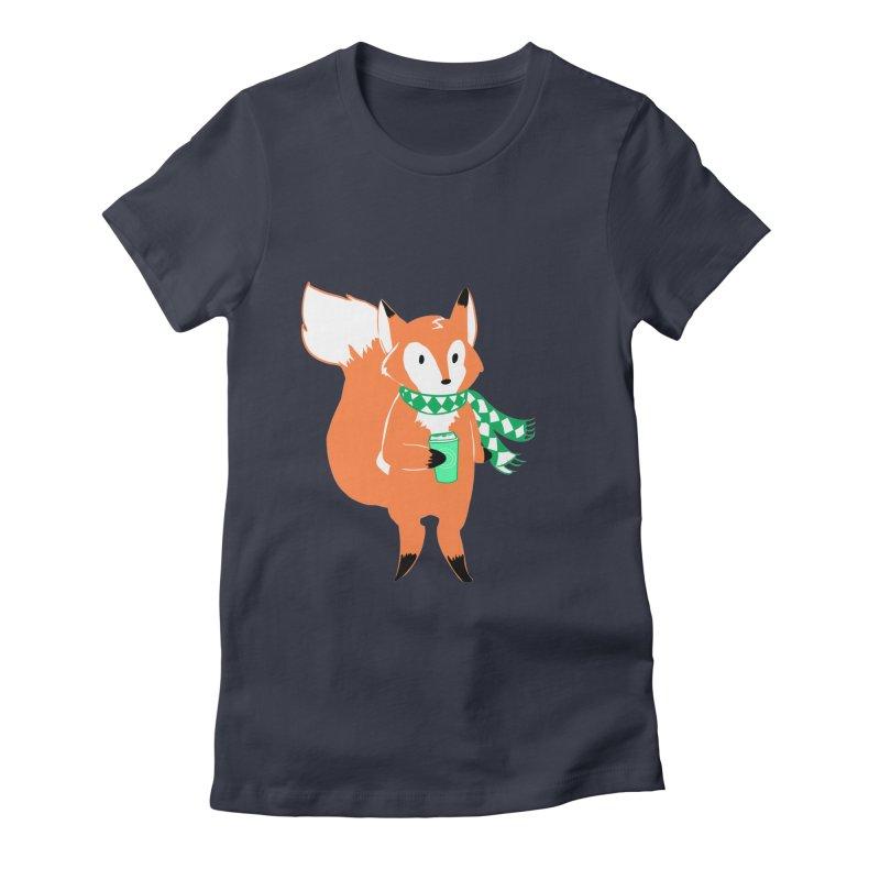 Holiday Like a Fox Women's T-Shirt by ArtemisStudios's Artist Shop