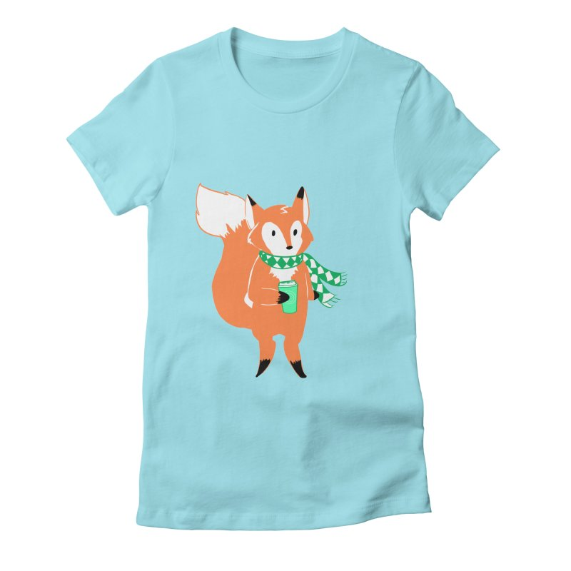 Holiday Like a Fox Women's T-Shirt by ArtemisStudios's Artist Shop