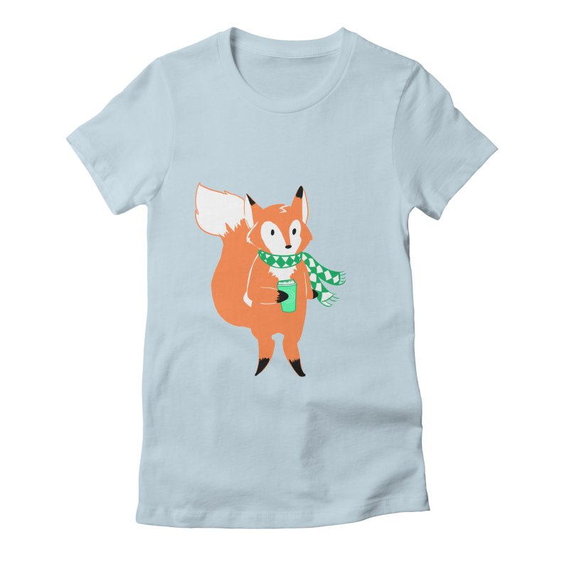 Holiday Like a Fox Women's Fitted T-Shirt by ArtemisStudios's Artist Shop