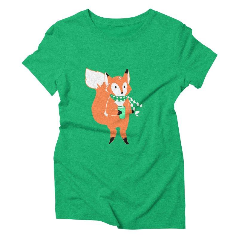 Holiday Like a Fox Women's Triblend T-Shirt by ArtemisStudios's Artist Shop