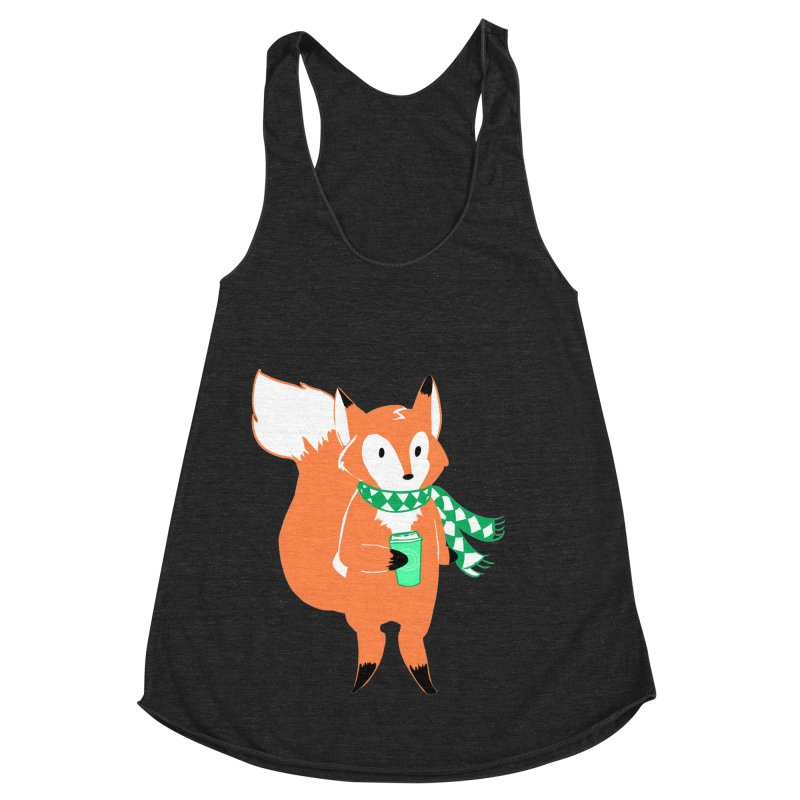 Holiday Like a Fox Women's Racerback Triblend Tank by ArtemisStudios's Artist Shop