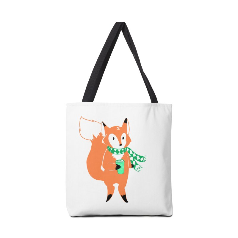 Holiday Like a Fox Accessories Tote Bag Bag by ArtemisStudios's Artist Shop
